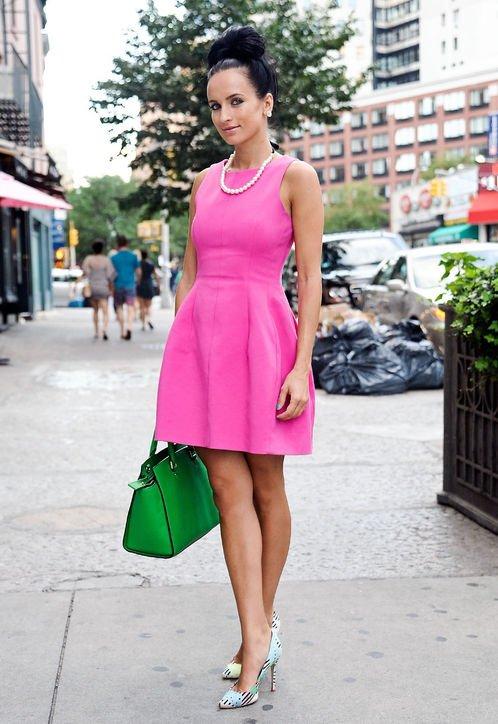 color,clothing,pink,dress,spring,