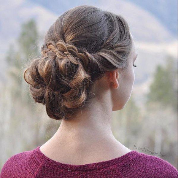 hair, hairstyle, long hair, bun, head,