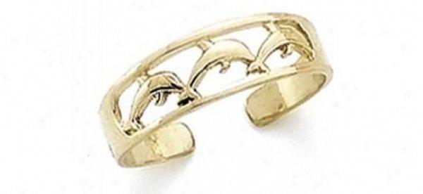 Dolphin Toe Ring