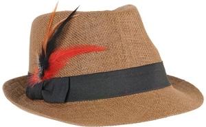 Straw Feather Fedora