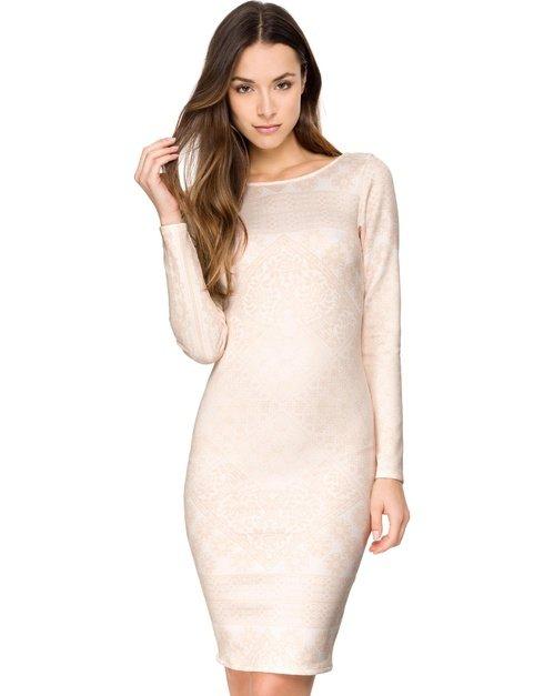 Scoop Back Body-Con Dress