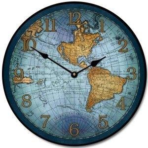 17th Century Map Clock