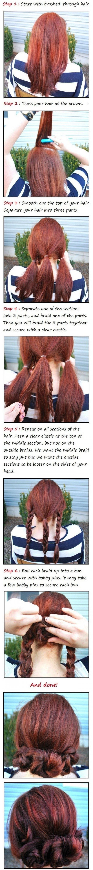 Simple Braid Buns