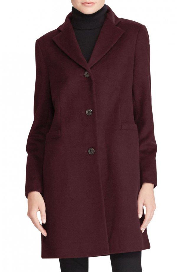 coat, overcoat, button, neck, woolen,