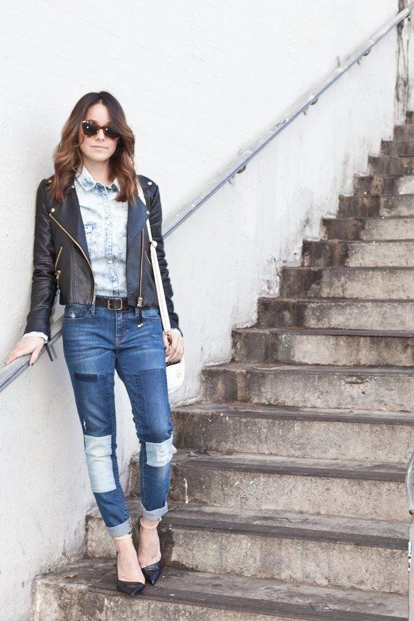 Patchy Denim Jeans