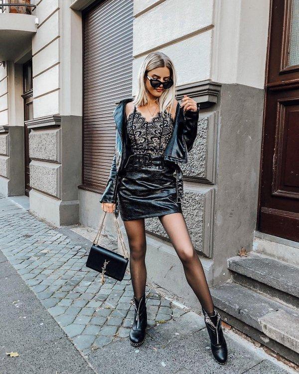 Clothing, Black, Street fashion, Fashion, Lady,