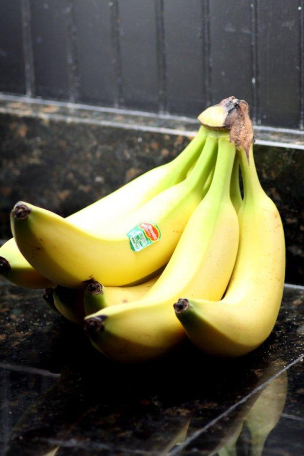 produce, plant, fruit, yellow, banana,