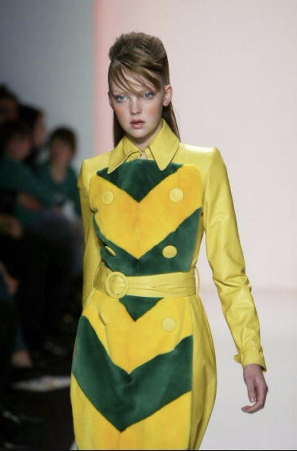 Fashion model, Fashion, Clothing, Yellow, Fashion show,