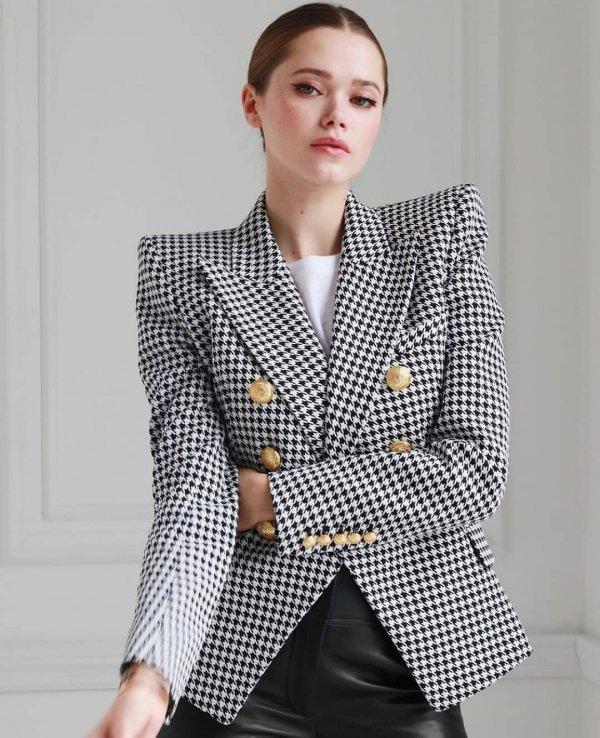 Clothing, Outerwear, Blazer, Plaid, Suit,