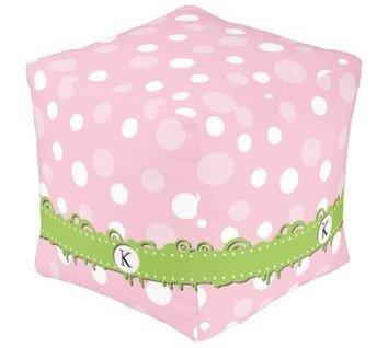 Pink Cube Poufe