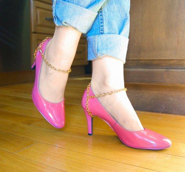 Chain Harness Heels