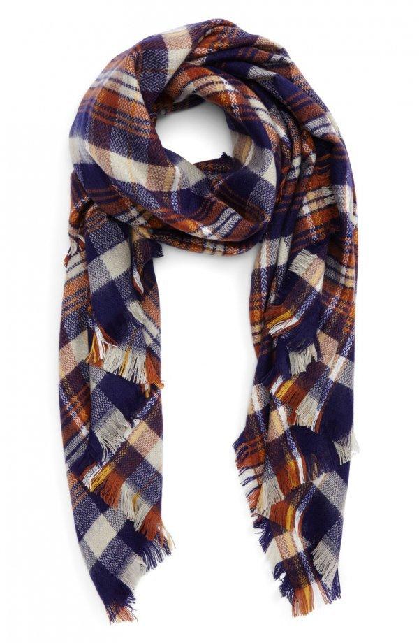 scarf, stole, plaid, pattern,