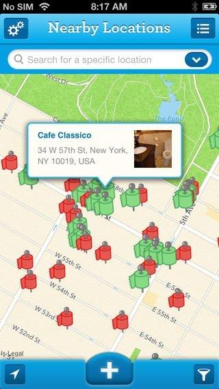 Sit or Squat: Restroom Finder