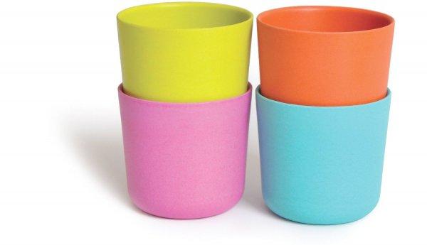 Biobu Bamboo Cups, Pinks Set of 4