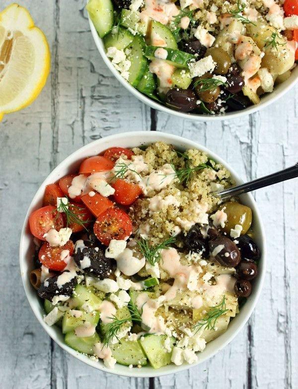 Loaded Greek-Style Quinoa Bowl