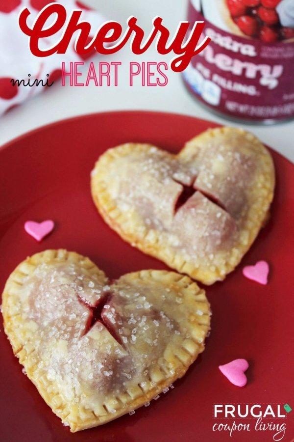 ValentineтАЩs Day Mini Cherry Heart Pies