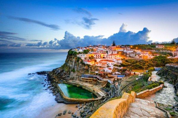 Azenhas do Mar, coast, geographical feature, landmark, shore,