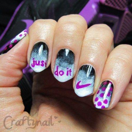 Nike Nail Art 36 Sports Nail Art Ideas That Will Make You Ready