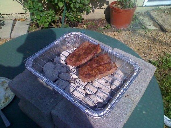 Turn Cooling Racks and Lasagna Pans into Juicy Steaks