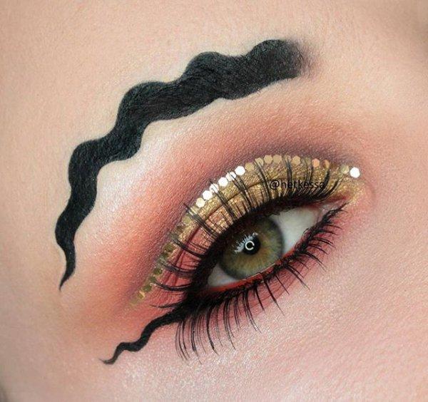 eyebrow, eyelash, eye, eye shadow, close up,
