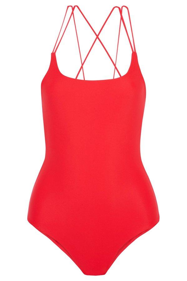 one piece swimsuit, swimwear, clothing, active undergarment, pink,
