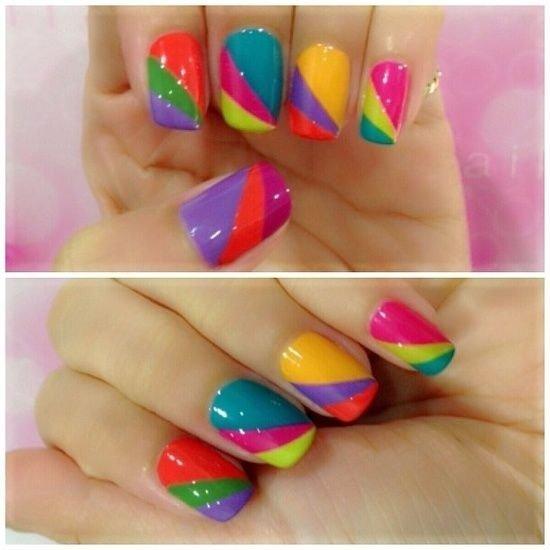 Fruit Stripe Nails