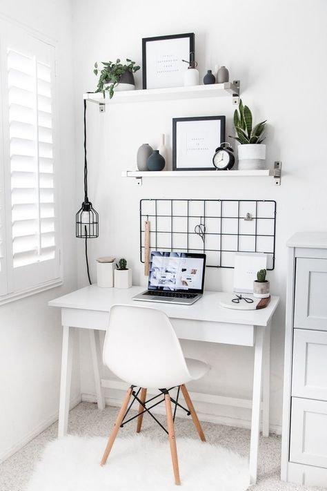 Furniture, Desk, White, Shelf, Room,