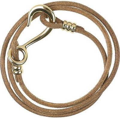 Giles & Brother Hook 10-Karat Gold-Plated Leather Wrap Bracelet