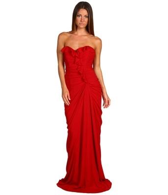 Badgley Mischka Ruffled Dress