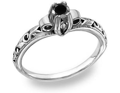 Art Deco Black Diamond Ring