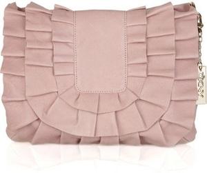 DKNY Ruffled Leather Shoulder Bag