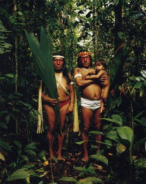 Indigenous Family in Morona Santiago Province, Ecuador