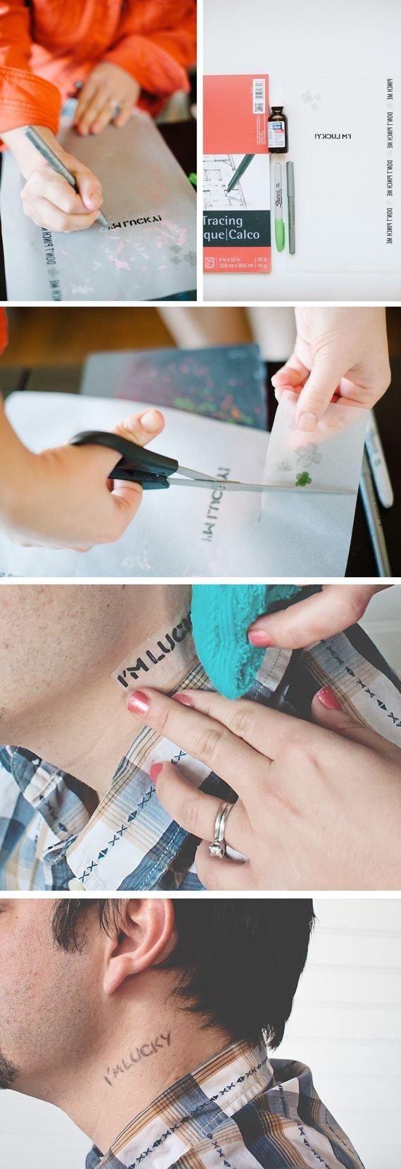Hand Traced Tattoo