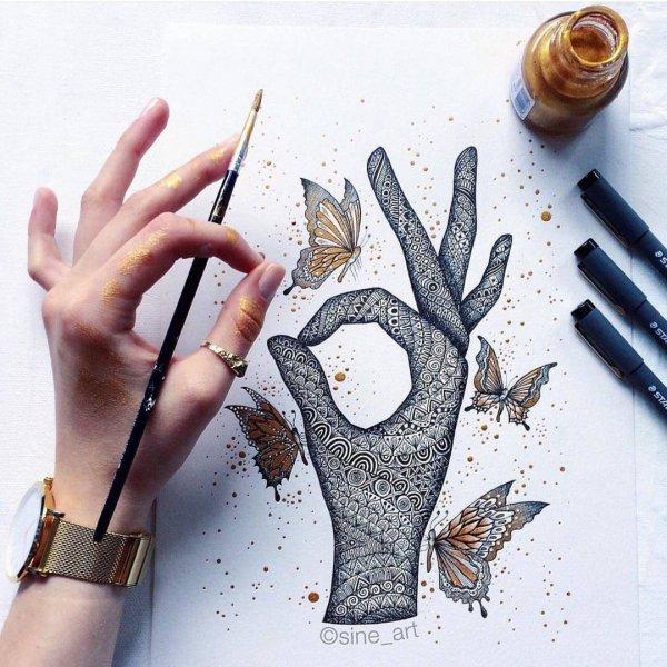 finger, hand, art, writing, pattern,
