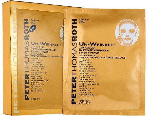 Peter Thomas Roth Un-Wrinkle™ 24k Gold Intense Wrinkle Sheet Mask