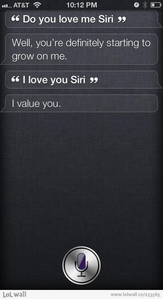 Do You Love Me, Siri?