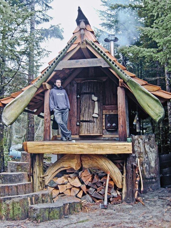log cabin,building,house,hut,wood,
