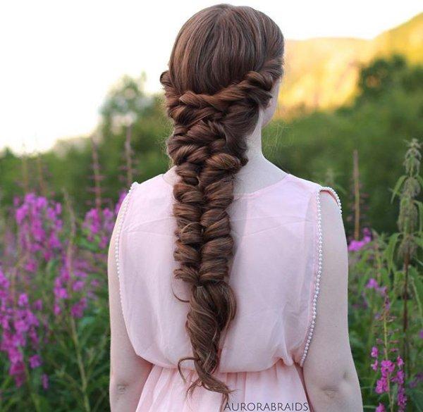 hair, hairstyle, long hair, braid, lavender,