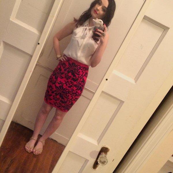 Her Pencil Skirt