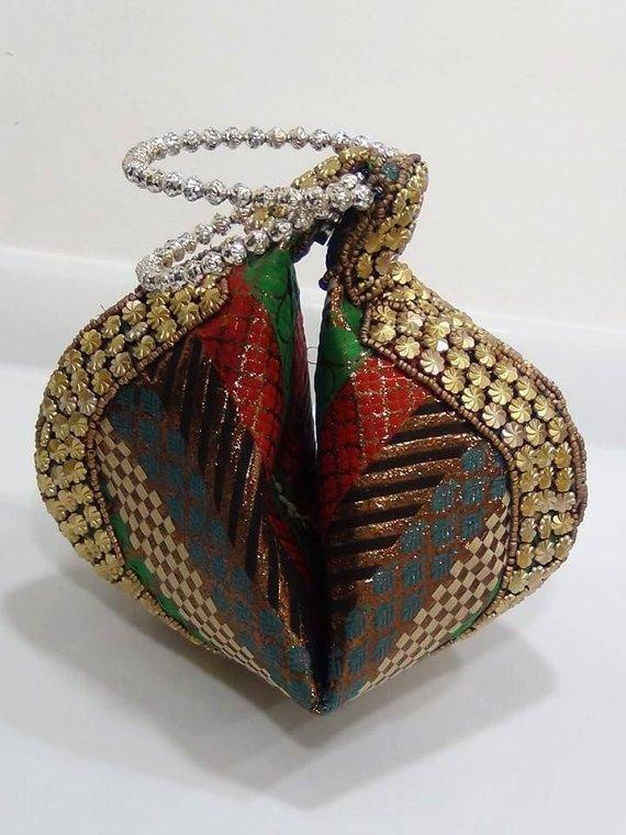 Multicolor Folding Bracelet Clutch