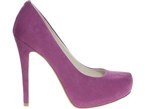 Faith Cadburys Magenta Heeled Court Shoes