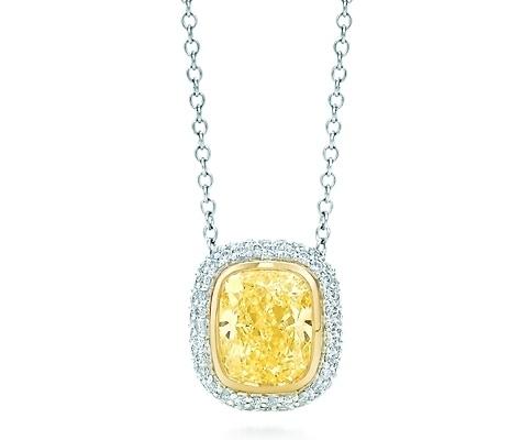 Tiffany bezet yellow diamond pendant 7 gorgeous yellow diamonds tiffany bezet yellow diamond pendant aloadofball Gallery
