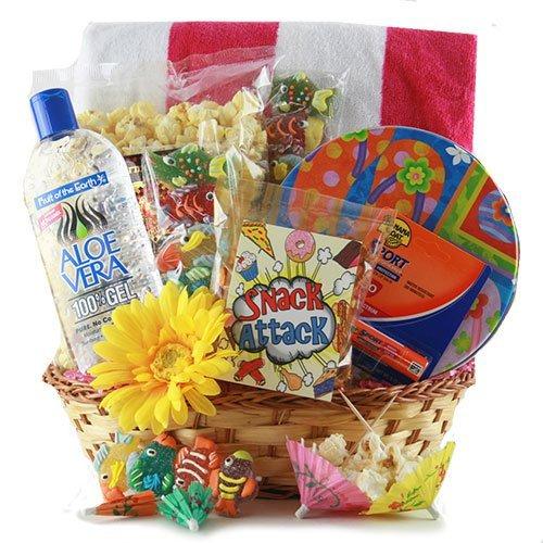 gift basket, basket, food, hamper, gift,