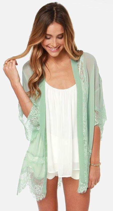 Mint Green Kimono