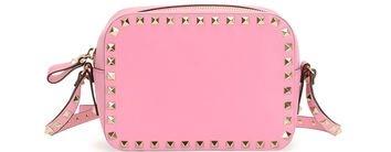 Rockstud Camera Crossbody Bag in Pink