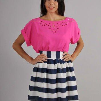 Bright Contrast Color Dress