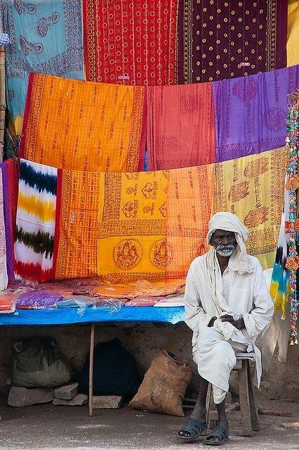 Varanasi Fabric Seller