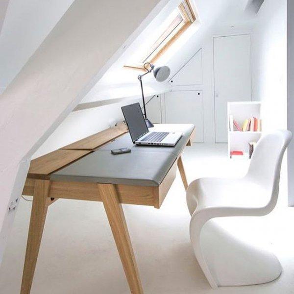 furniture, room, desk, floor, chair,
