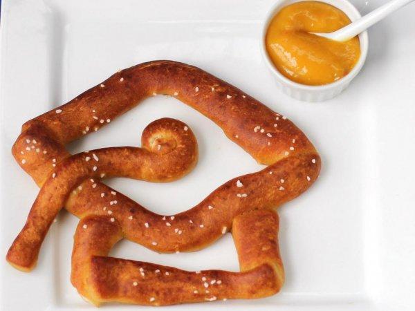 food, pretzel, snack food, vienna sausage, dish,