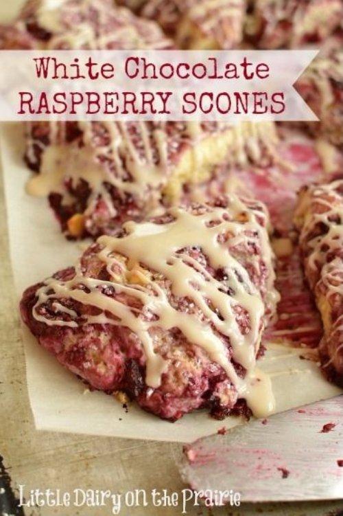 White Chocolate and Raspberry Scones